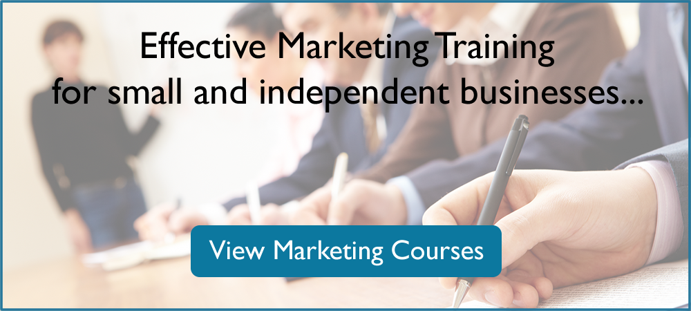Effective Marketing Training for small and independent businesses...